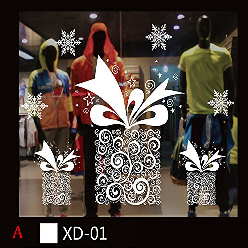 HROIJSL Weihnachts Wandaufkleber Weihnachten Schneemann Removable Home Vinyl Fenster Wandaufkleber Abziehbild Dekor