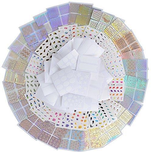 120 Diseños 72hojas Decoración Pegatinas Uñas Vinilos