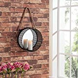 #2: Collectible India Metal Decorative Mirror Wall Mounted Hanging Art Sculpture Sconce Candle Holder Stand Home Office Living Room Decor Arts( Size: 12 Inches)