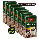 Melitta Auslese klassisch Filterkaffee 6 x 500g (3000g) - Kaffee aus besten Anbaugebieten!