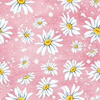 Ambiente 3-Ply Printed Paper, Tissue Napkins - Daisies Rose, Pack of 20 33 x 33cm
