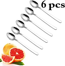 Outgeek Fruit Spoon Stainless Steel Simple Dessert Spoon Serving Spoon for Grapefruit