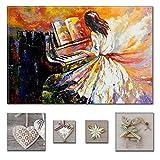 Lumière Eco Art mural sur toile Bundle fascinant Piano Player 80x...