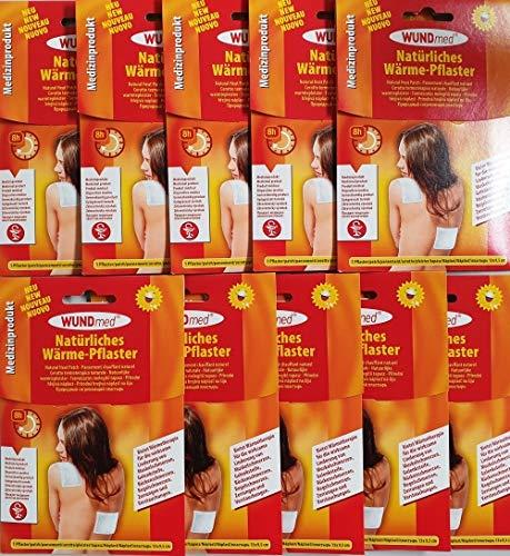FAIRWARE-DIREKT® 10er Pack Wärmekissen 8 h selbstklebend, Wärmepflaster, Schmerzpflaster