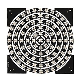 Mokungit WS2812B RGB LED Panel Rund Ring Lampe 5050 SMD 93 Birnen Traum Farbe für 2812 2811 LED Controller