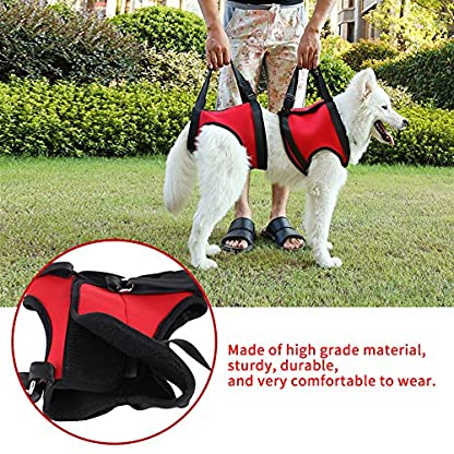 Dog Lift Harness Front Rear Dog Support Harness Walking Aid Lifting Pulling Vest for Old Injured Dogs 8