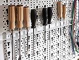 Element System Werkzeuglochwand aus Metall, Heimwerker-Grundset inklusive Schrauben und Dübel, weiß, 11300-00005 - 7