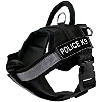24x7 eMall Dog K9 Police Dog Vest with Hook and Loop Straps and Handle Harness Features Reflective Patch and Comfortable…