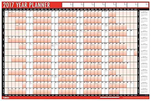 2017-a1-laminated-yearly-wall-planner-calendar-with-wipe-dry-pen-sticker-dots