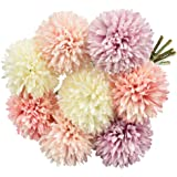 EMAGEREN 8pcs Flores Artificiales, Ramos de Flores Artificiales, Flores de Hortensia Artificial, 4 Colores, Flores Artificial