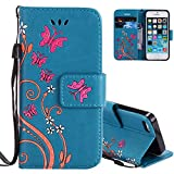 iPhone SE Portemonnaie, iPhone 5S Handycover Huelle, Aeeque - Best Reviews Guide