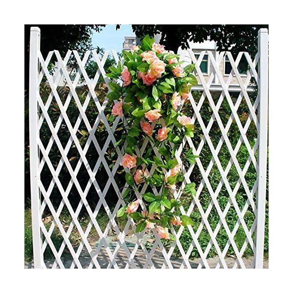 Enredadera artificial, de la marca AlphaAcc, con rosas de seda y hojas verdes, guirnalda de decoración para fiestas…