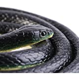 Trick toy 51.18 inch snake toy realistic rubber snake toy realistic snake rubber snake for practical jokes