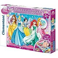 Clementoni Princesas Disney - Puzzle Disney Princess 1 con joyas, 104 piezas (20077.1)