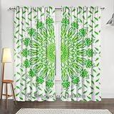 indiano balze verde pavone Mandala camera da letto tende, tende finestra tendaggi, per porte e finestre, sciarpa mantovana 2pannello set Decor 213,4x 203,2cm