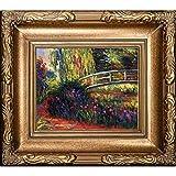 overstockArt La Ansammlung die japanische Brücke (Seerosenteich, Wasser,) von Monet handbemalt Öl mit Florentine Gold Rahmen
