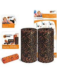 Blackroll Orange (Das Original) - DIE Selbstmassagerolle - Twin-Set Standard (inkl. Übungs-DVD, -Poster und -Booklet)