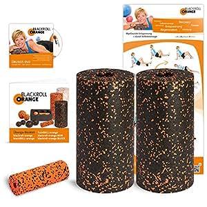 Blackroll Orange (Das Original) - DIE Selbstmassagerolle - Twin-Set Standard (inkl. Übungs-DVD, -Poster und -Booklet)