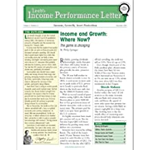 Leebs Income Performance Letter (For 2011, Growth and Dividends Will Lead Book 5)