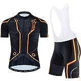 Heren fietsshirt korte mouwen bike shirts en draagbroek set sportkleding