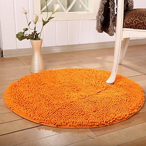 USTIDE Weicher Shag Chenille Teppich Rund Bereich Teppich Rutschfest saugfähigen Böden Teppiche für Drehstuhl 31