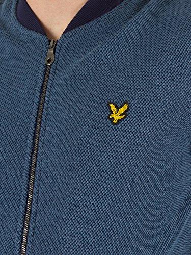 Lyle & Scott Herren Pique Logo Bomber Strick, Blau Blau