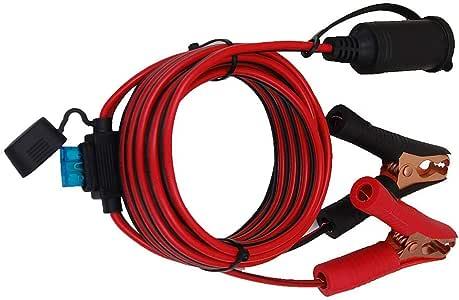 10FT 12V-24V Accendisigari per auto Accendisigari Connettori Prolunga Cavo di ricarica con antipolvere Impermeabile per auto Accendisigari Presa di corrente