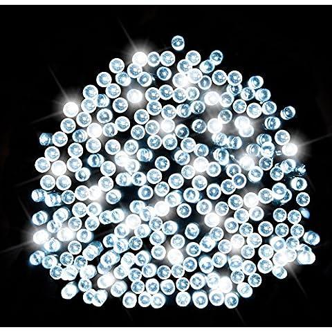200 LEDS SOLAR MEGA BRILLANTES LUCES DECORATIVAS, IDEAL PARA JARDIN, ARBOLES, FIESTAS, CASAS Y