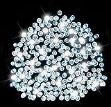 Lichterkette aus 200 solarbetriebenen Weißlicht LED Lichtern von SPV Lights: Der Solarlicht- & Beleuchtungsspezialist (2 Jahre kostenlose Gewährleistung inklusive)