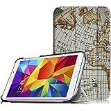 Samsung Galaxy Tab 4 7.0 Funda – Fintie Ultra Slim Case Funda Carcasa con Stand Función para Samsung Galaxy Tab 4 7.0 (SM-T230 T231 T235), Blanco Mapa