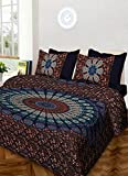 #9: Suraaj Fashion Jaipuri and Rajasthani Tradition 144 TC Cotton Double Bedsheet With 2 Pillow Covers