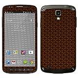 atFolix Samsung Galaxy S4 Active Skin FX-Honeycomb-Brown Designfolie Sticker - Waben-Struktur/Honigwabe