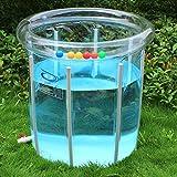 Piscina Cubierta transparente espesa de protección del medio ambiente infantil Piscina interior y exterior Aleación estancias piscina para bebés (Color opcional) ( Color : B )