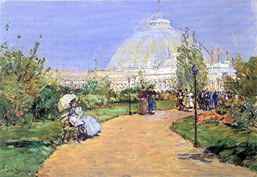 Die Museum Outlet-House Of Gardens, World 's Columbian Exposition, Chicago by Hassam-Poster Print Online kaufen (76,2x 101,6cm)