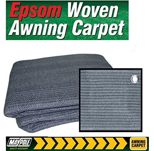 Breathable Caravan Awning Carpet Weaveatex Motorhome Tent Groundsheet Matting – Blue / Grey