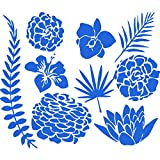 IncredibleWallDecals Wandtattoo mit Lotusblume, Seegras, Vinyl-Aufkleber, Heimdekoration, für Schlafzimmer, Badezimmer, Küche, MN1018