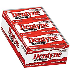 Dentyne Classic Gum 12 - 18 Piece Packs by Cadbury Adams