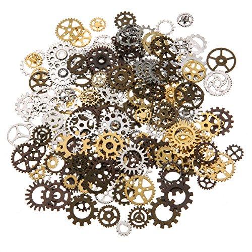 Jeteven Retro Schlüssel Anhänger Bronze Silber Vintage Schmuck -