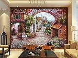 Malilove 3d wallpaper camera murale personalizzata non-tessuto adesivo parete città europea strade di fiori pittura foto 3d pitture murali wallpaper
