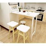 Table Murale Rabattables-Bois Massif, Table De Bar Pliable, Table À Manger De Loisir Multifonction, Complément Parfait pour L