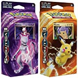 Pokemon Mewtwo & Pikachu XY Evolutions TCG Kartenspiel Decks - 60 Karten jeweils