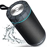 Bluetooth Speakers, COMISO True Wireless Stereo Waterproof IPX4 Speaker, Enhanced Bass with 2x6W Dual-Driver, Bluetooth 4.1 with 36h Play-time (Black)