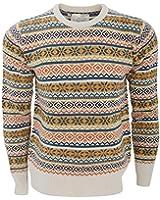 Brave Soul Mens William Knitted Fairisle Pattern Sweater/Jumper
