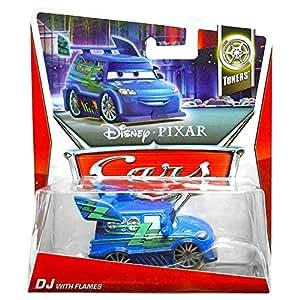 Disney Pixar Cars 2 DJ With Flames - Voiture Miniature Echelle 1:55