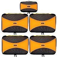 PRO Packing Cubes   Juego económico de 5 organizadores de viaje   Bolsos ahorradores del 30 % de espacio   Organizadores ultraligeros de equipaje   Ideales para bolsos de viaje, maletas y mochilas
