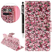 d60aa3b784e6a8 Nokia Lumia 930 Hülle, Nokia Lumia 930 Hülle Ledertasche Brieftasche  handyhülle im BookStyle, SainCat