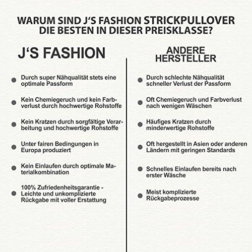 Herren Strickjacke - Grobstrick - Slim-Fit / Figurbetont - meliert - Moderner Zeitloser Warmer Strickpullover 72802 White-Black