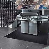 Floordirekt Grillschutzmatte | Schwer entflammbar | 2 Größen | 5 Designs | Grillmatten zum Grillen im Garten | Outdoor Matten für den Grill (90 x 180 cm, Padua)