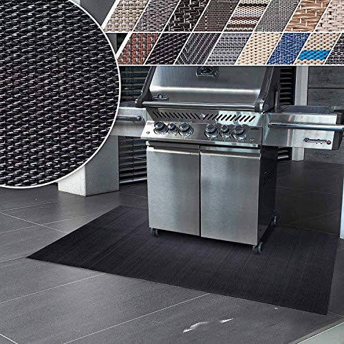 Floordirekt Grillschutzmatte | Schwer entflammbar | 2 Größen | 5 Designs | Grillmatten zum Grillen im Garten | Outdoor Matten für den Grill (90 x 120 cm, Padua)