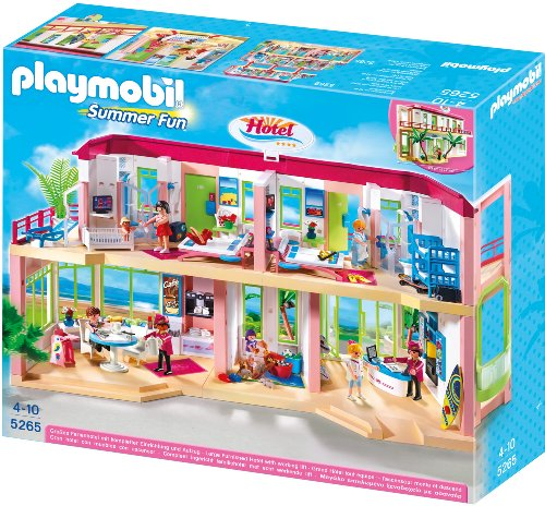 Preisvergleich Produktbild PLAYMOBIL 5265 - Großes Ferienhotel mit Einrichtung